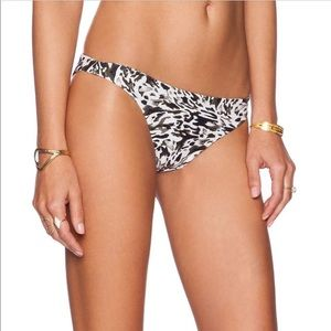 Mikoh Black white print bottoms M
